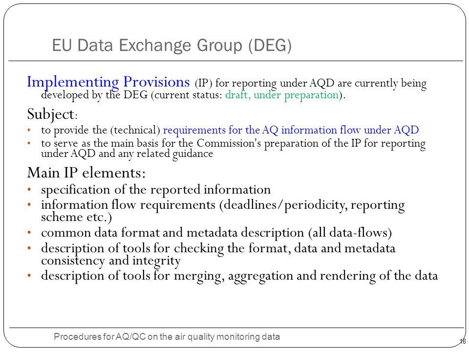 EU Data Exchange Group (DEG)