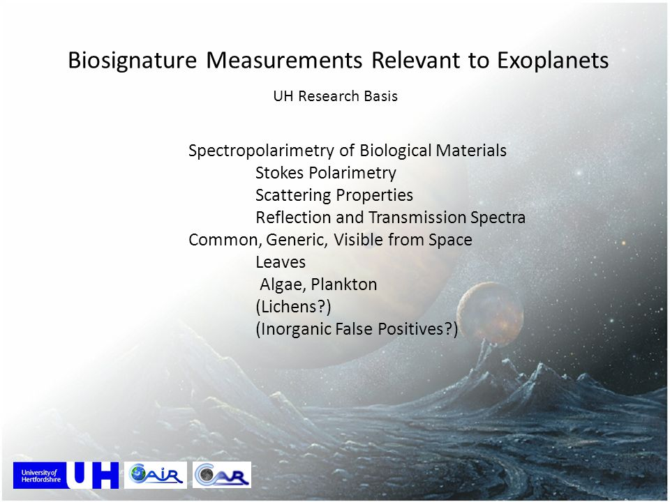 Biosignature Measurements Relevant to Exoplanets