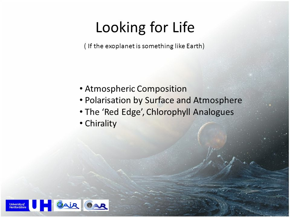 Looking for Life Atmospheric Composition