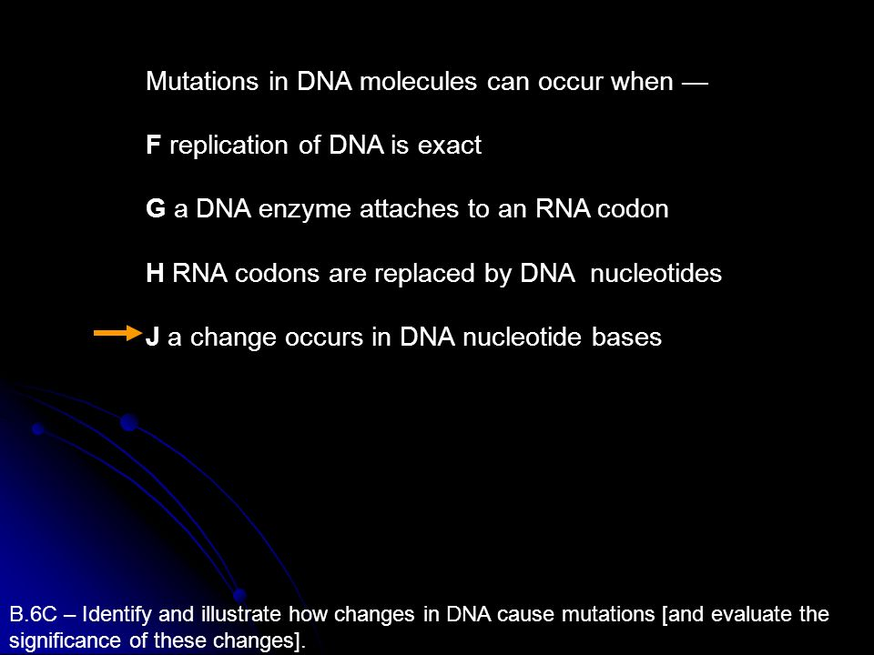 Mutations in DNA molecules can occur when —