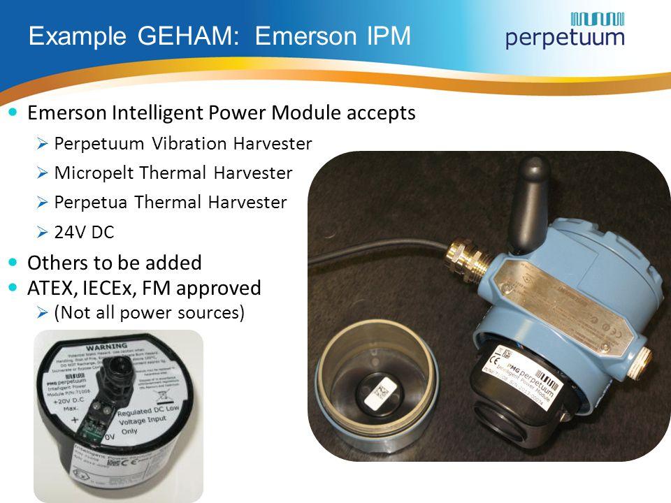 Example GEHAM: Emerson IPM