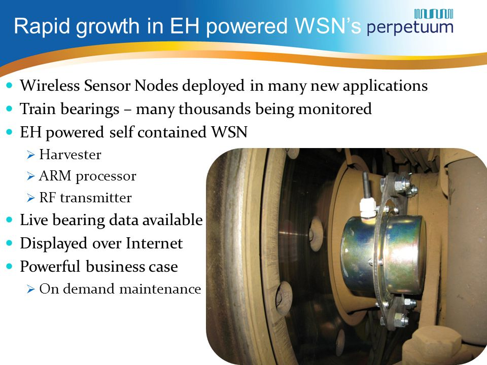 Rapid growth in EH powered WSN's