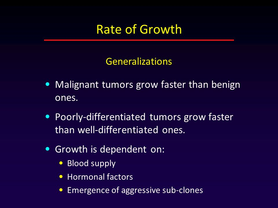 Rate of Growth Generalizations