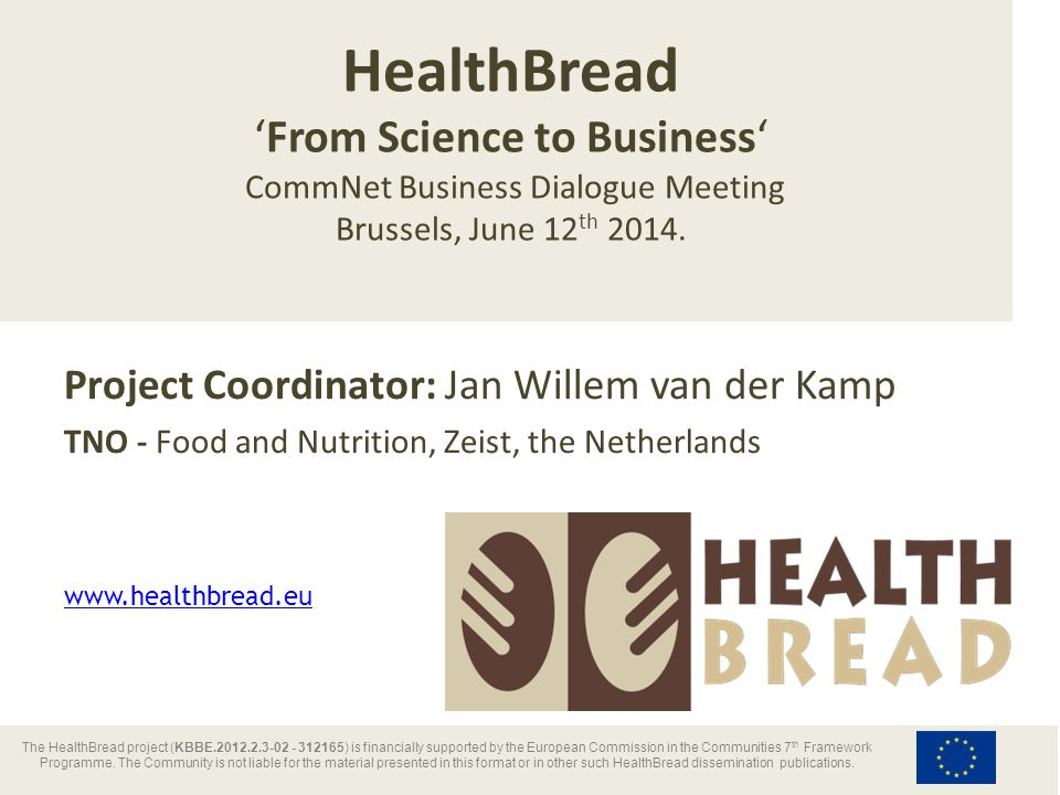 HealthBread Project Data