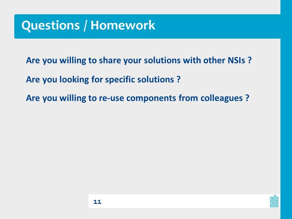 Questions / Homework