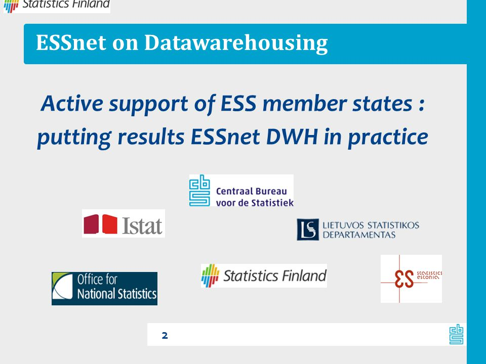 ESSnet on Datawarehousing