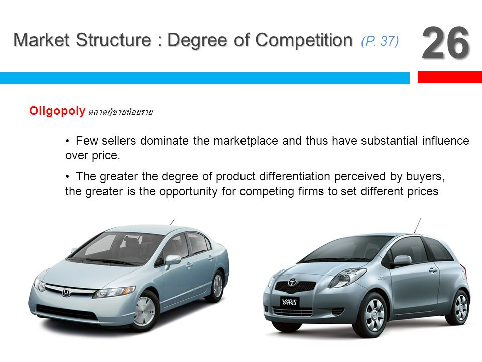 26 Market Structure : Degree of Competition (P. 37)