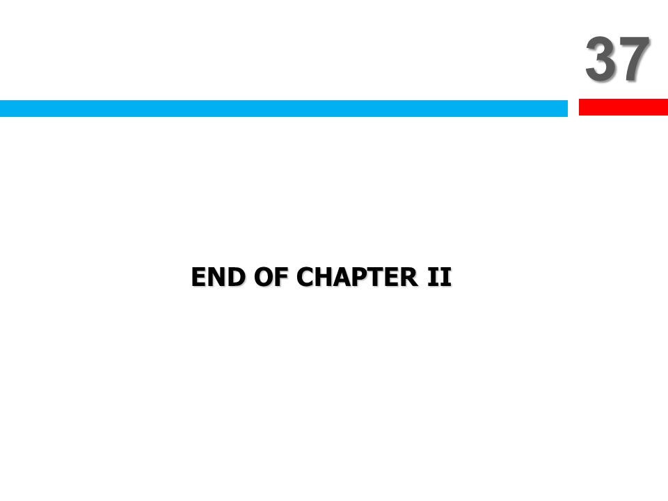 37 END OF CHAPTER II