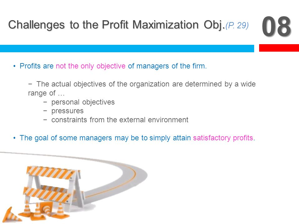 08 Challenges to the Profit Maximization Obj.(P. 29)