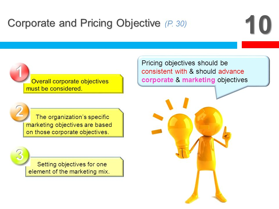 10 Corporate and Pricing Objective (P. 30)