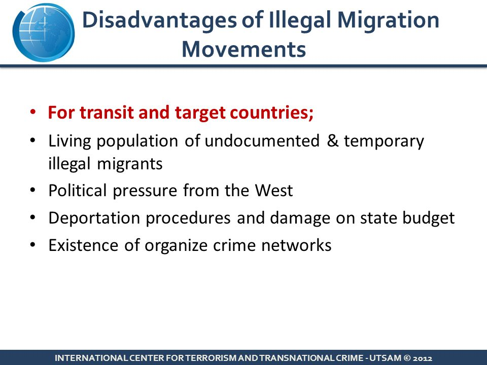 Disadvantages of Illegal Migration