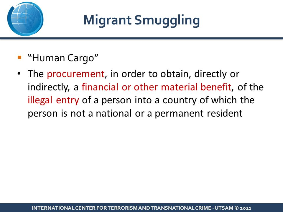 Migrant Smuggling Human Cargo