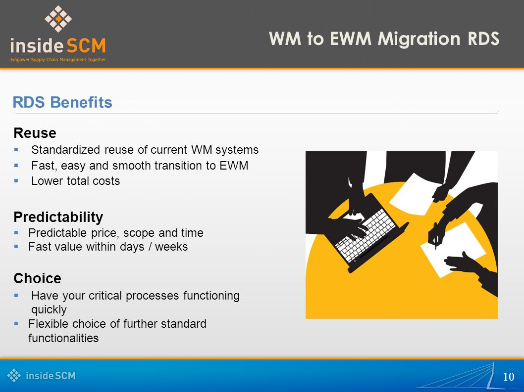 WM to EWM Migration RDS RDS Benefits Reuse Predictability Choice