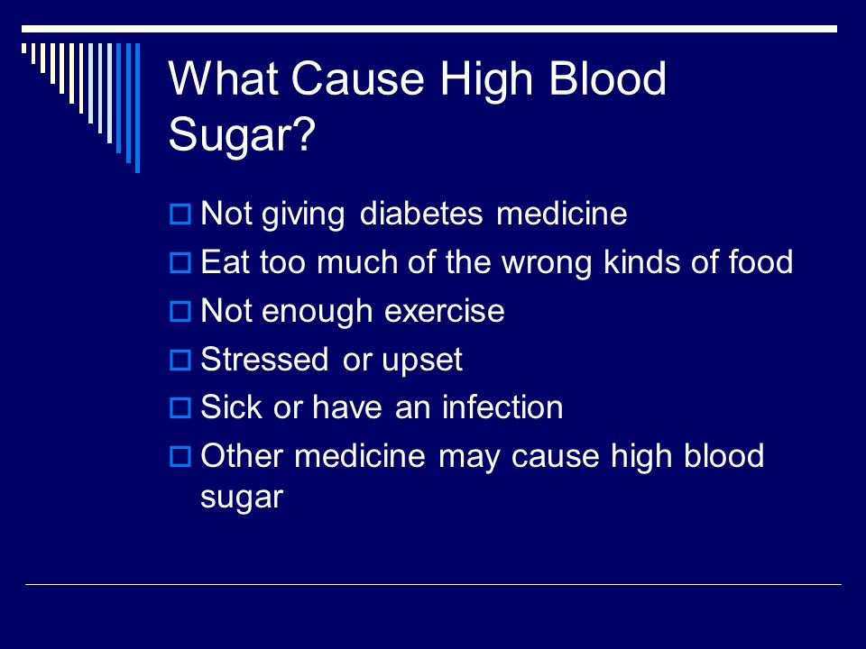 What Cause High Blood Sugar