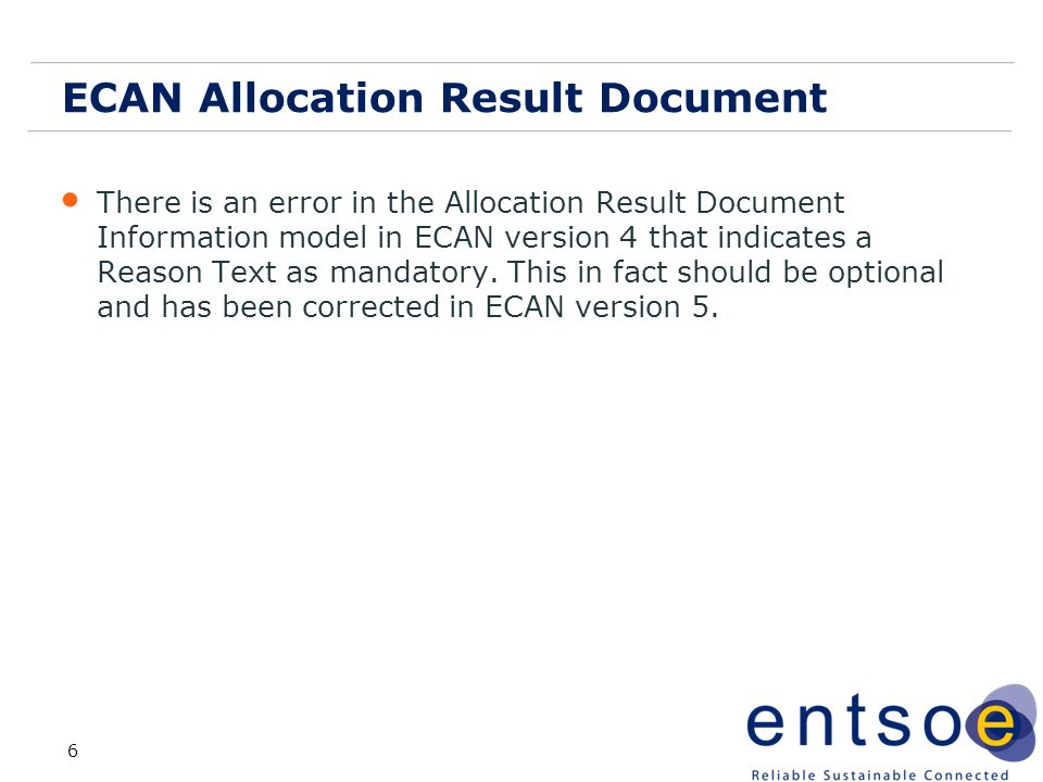 ECAN Allocation Result Document