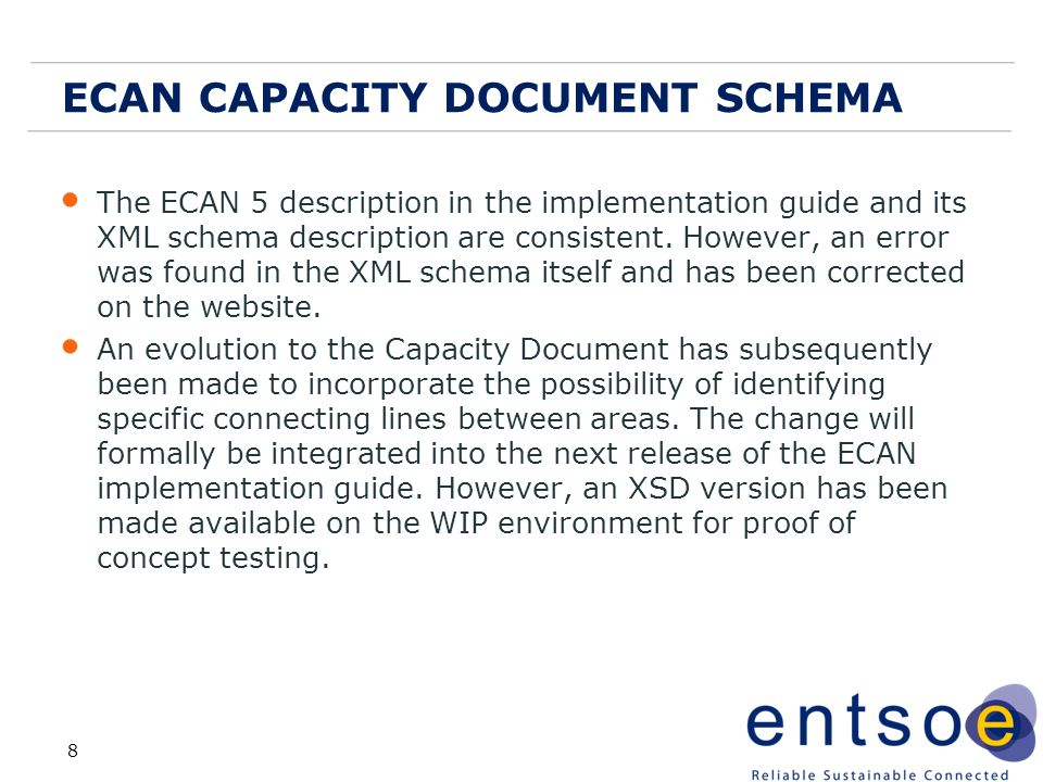 ECAN CAPACITY DOCUMENT SCHEMA