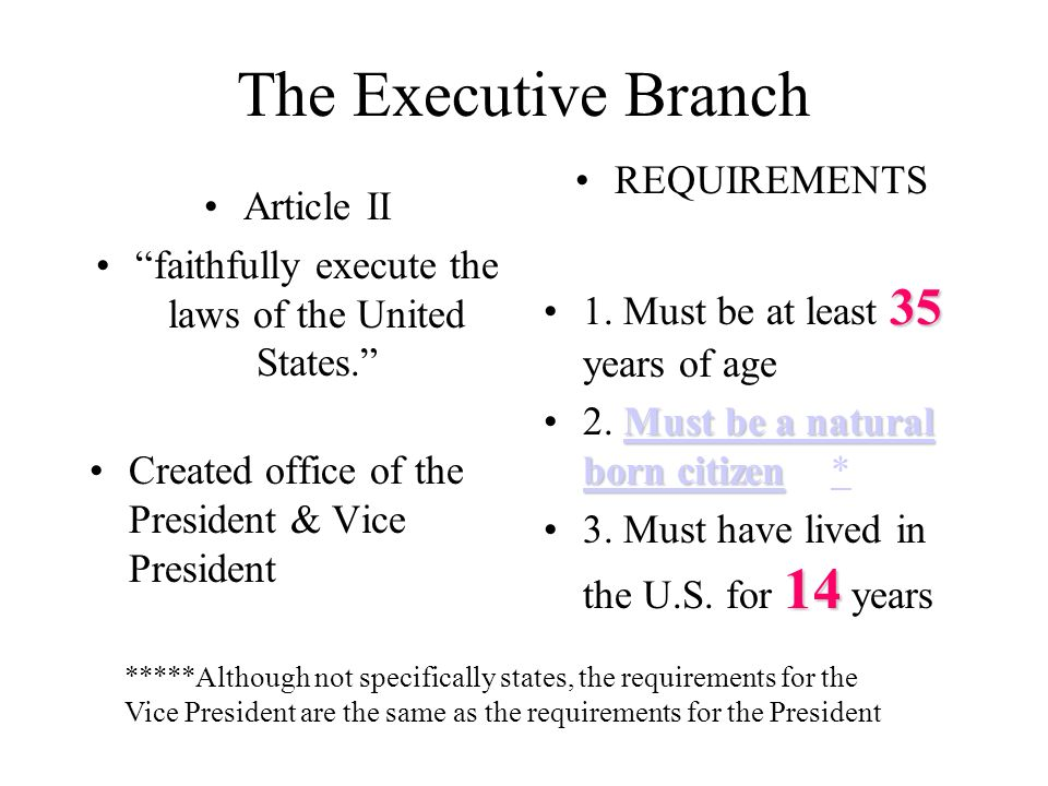 faithfully execute the laws of the United States.