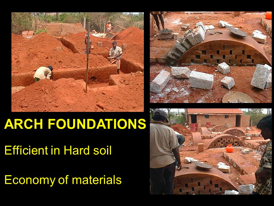 ARCH FOUNDATIONS Efficient in Hard soil