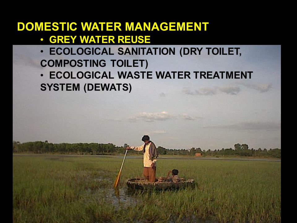 DOMESTIC WATER MANAGEMENT