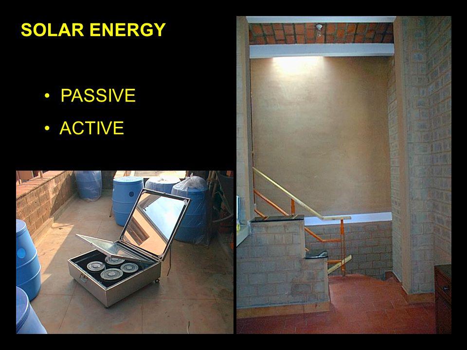 SOLAR ENERGY PASSIVE ACTIVE