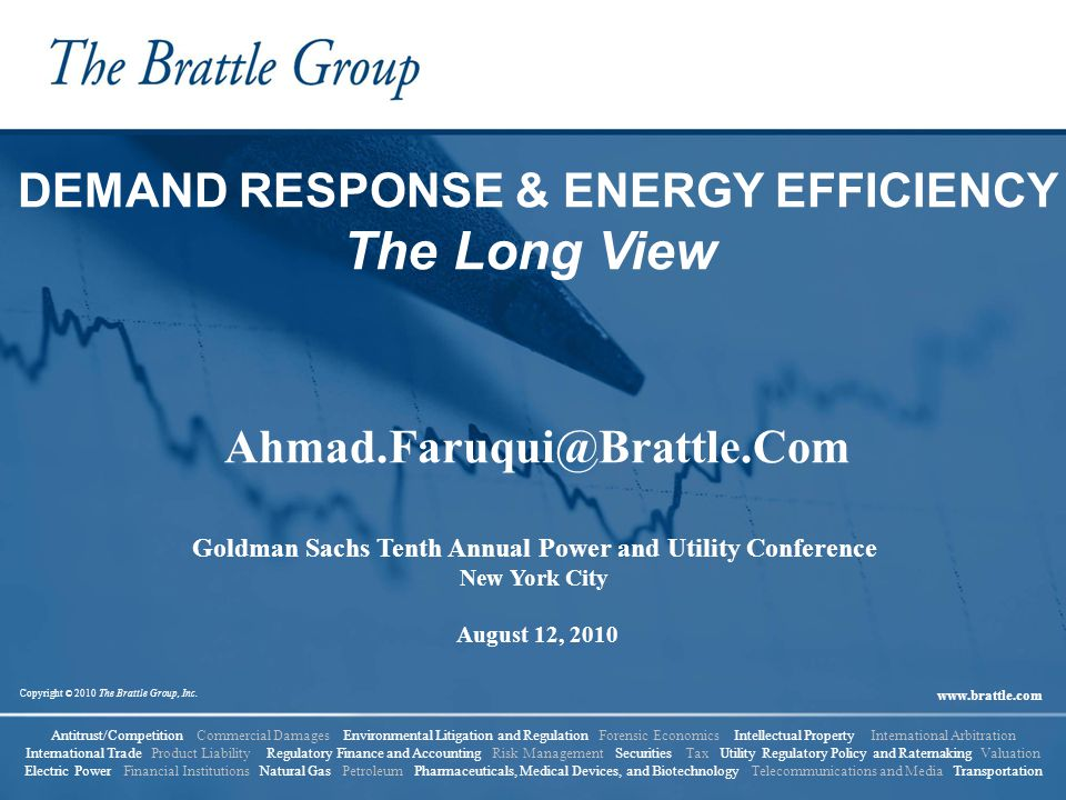 The Long View DEMAND RESPONSE & ENERGY EFFICIENCY