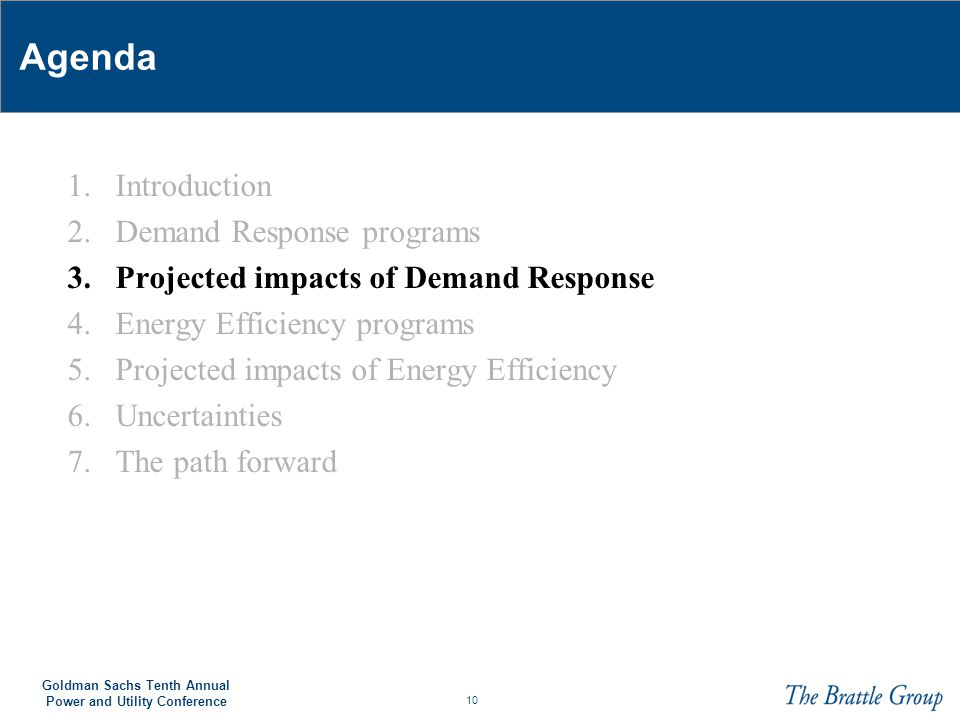 Agenda 1. Introduction 2. Demand Response programs