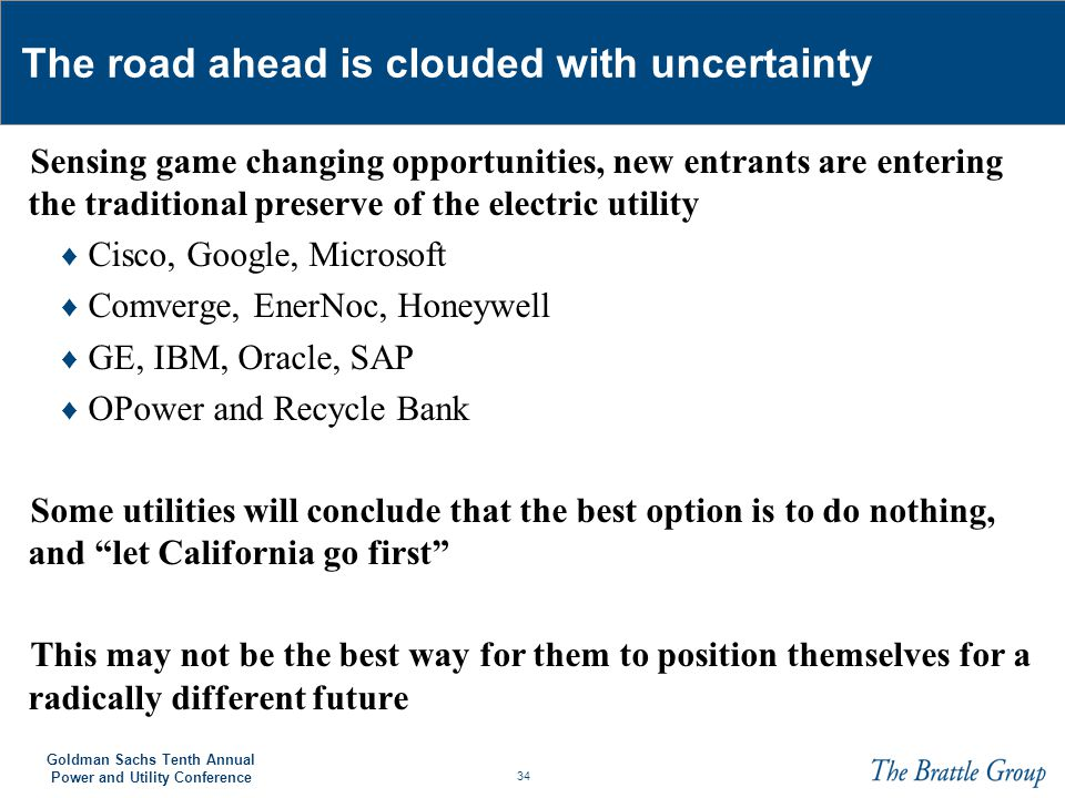 The road ahead is clouded with uncertainty