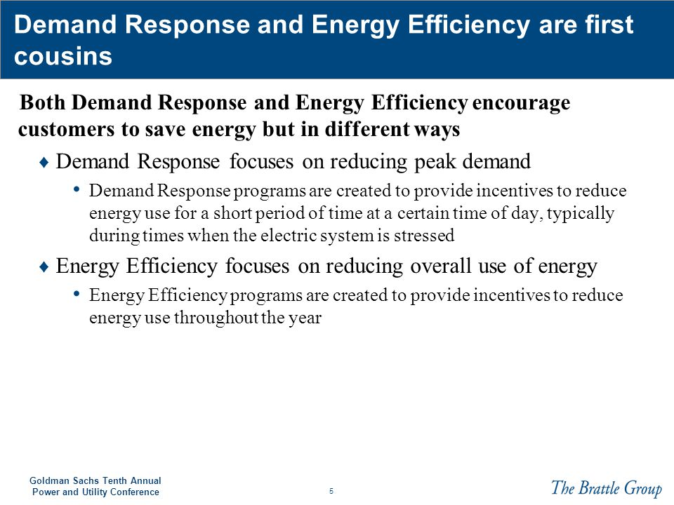 Demand Response and Energy Efficiency are first cousins