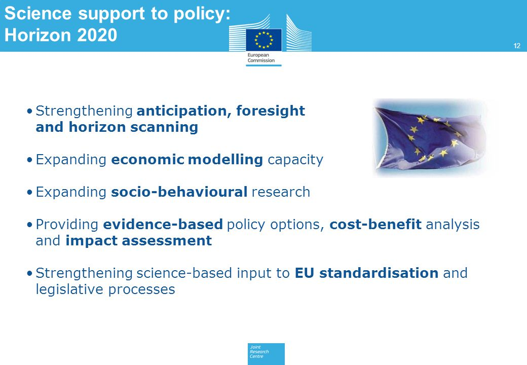 Science support to policy: Horizon 2020