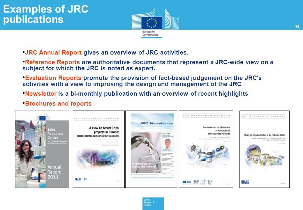 Examples of JRC publications