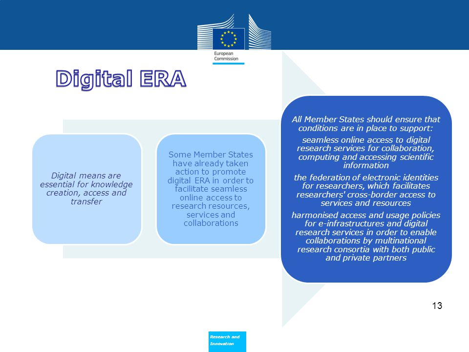 Digital means are essential for knowledge creation, access and transfer