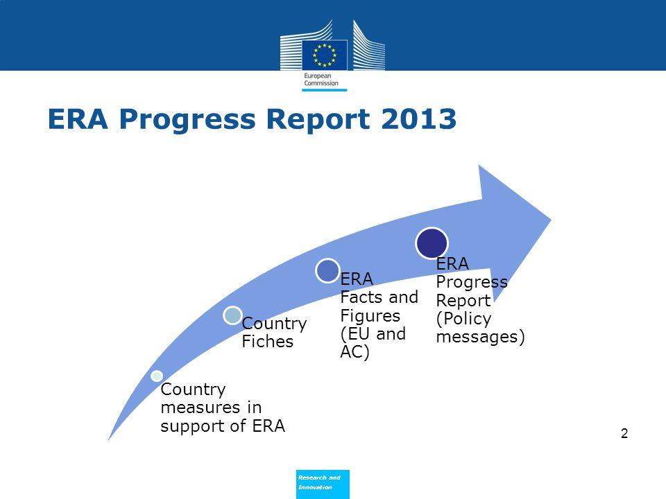 ERA Progress Report 2013 ERA Progress Report (Policy messages)