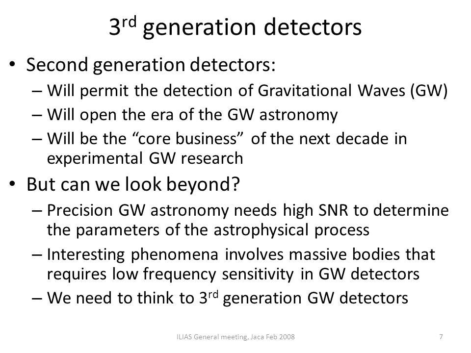 3rd generation detectors