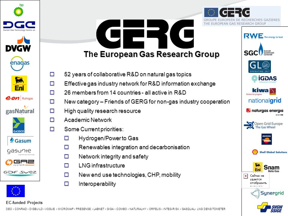 The European Gas Research Group