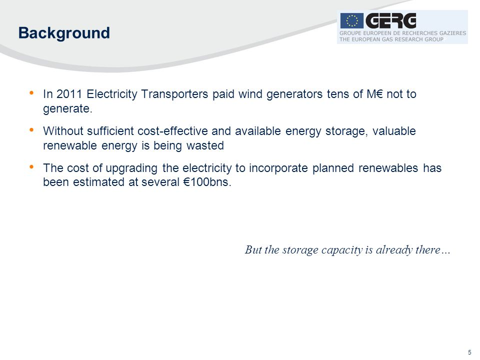 Background In 2011 Electricity Transporters paid wind generators tens of M€ not to generate.