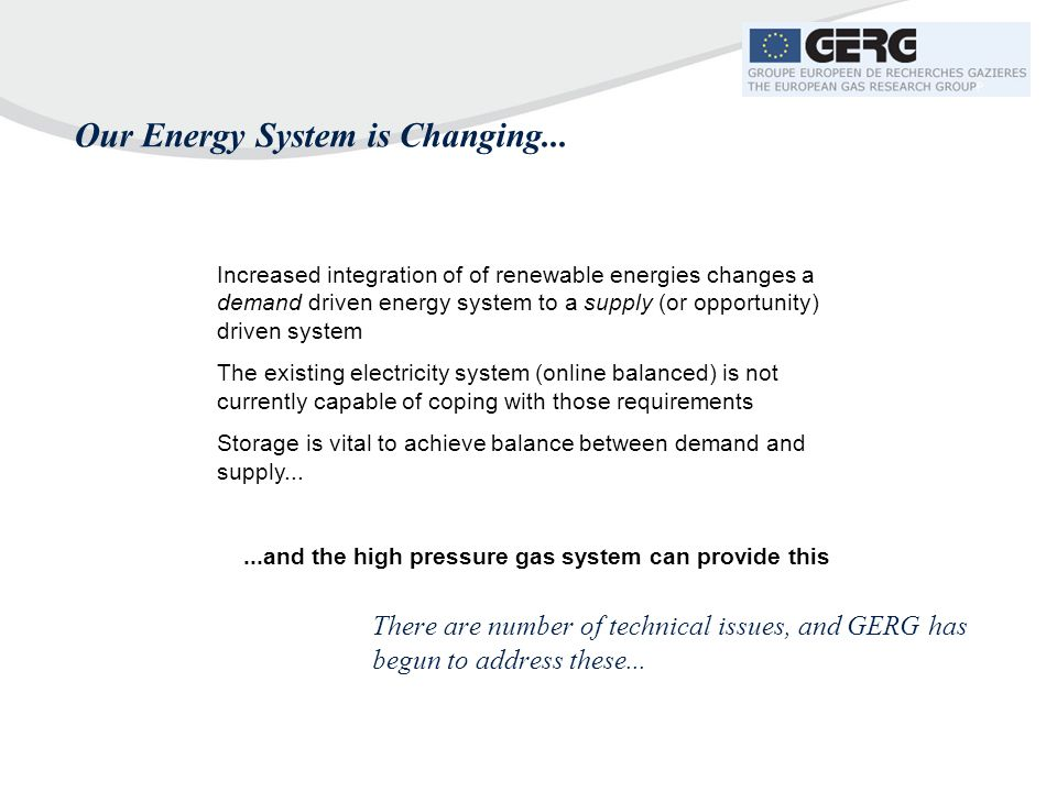 Our Energy System is Changing...