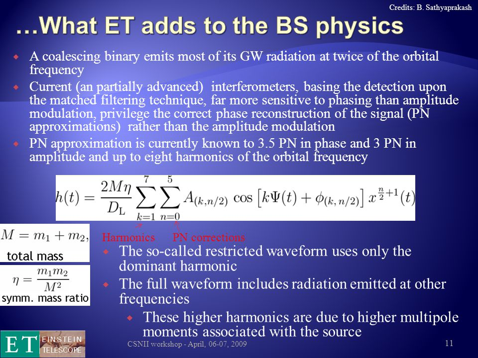 …What ET adds to the BS physics