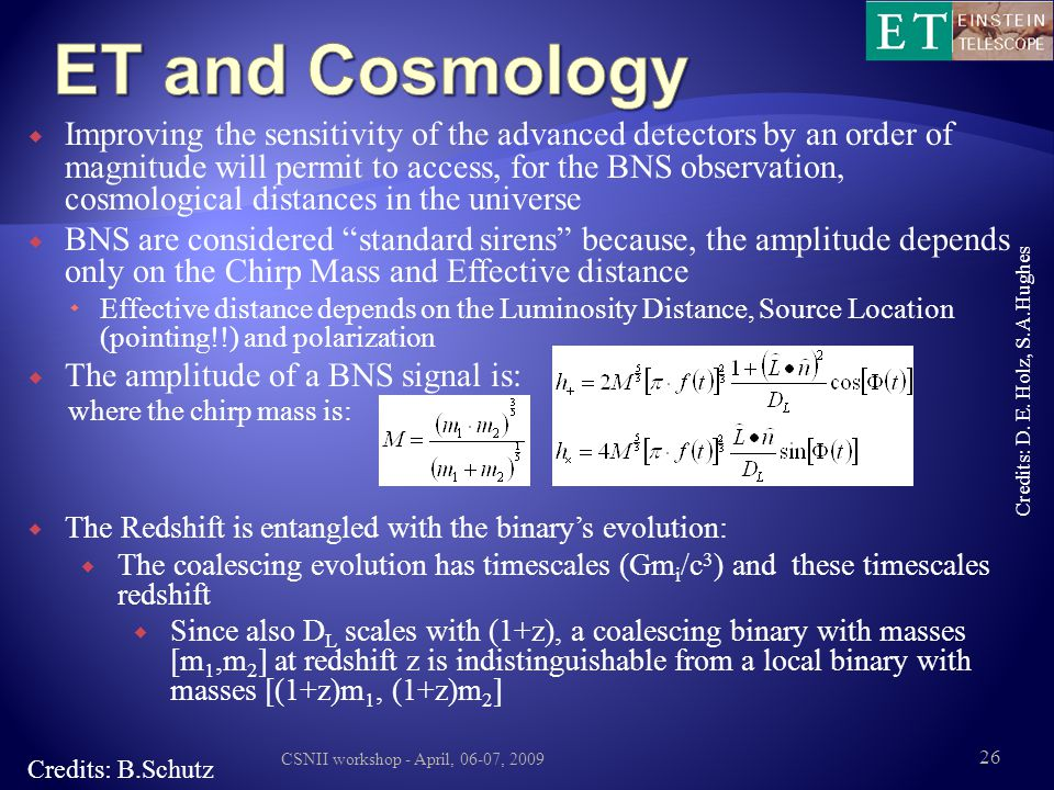 ET and Cosmology