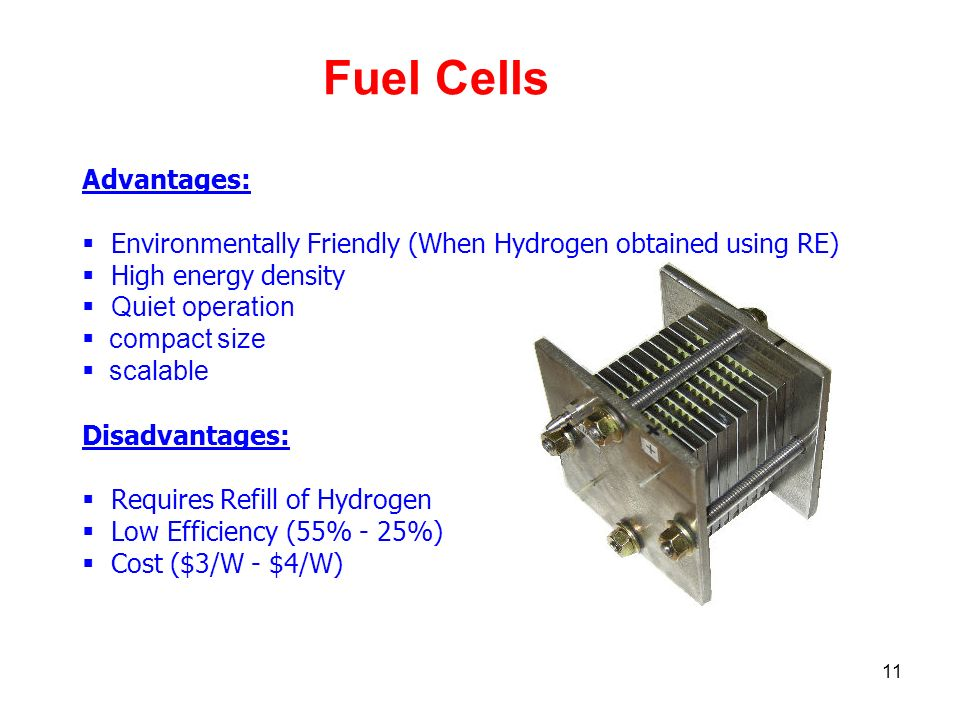 Fuel Cells Advantages: