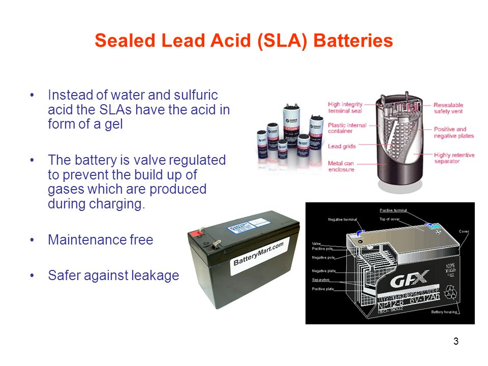 Sealed Lead Acid (SLA) Batteries