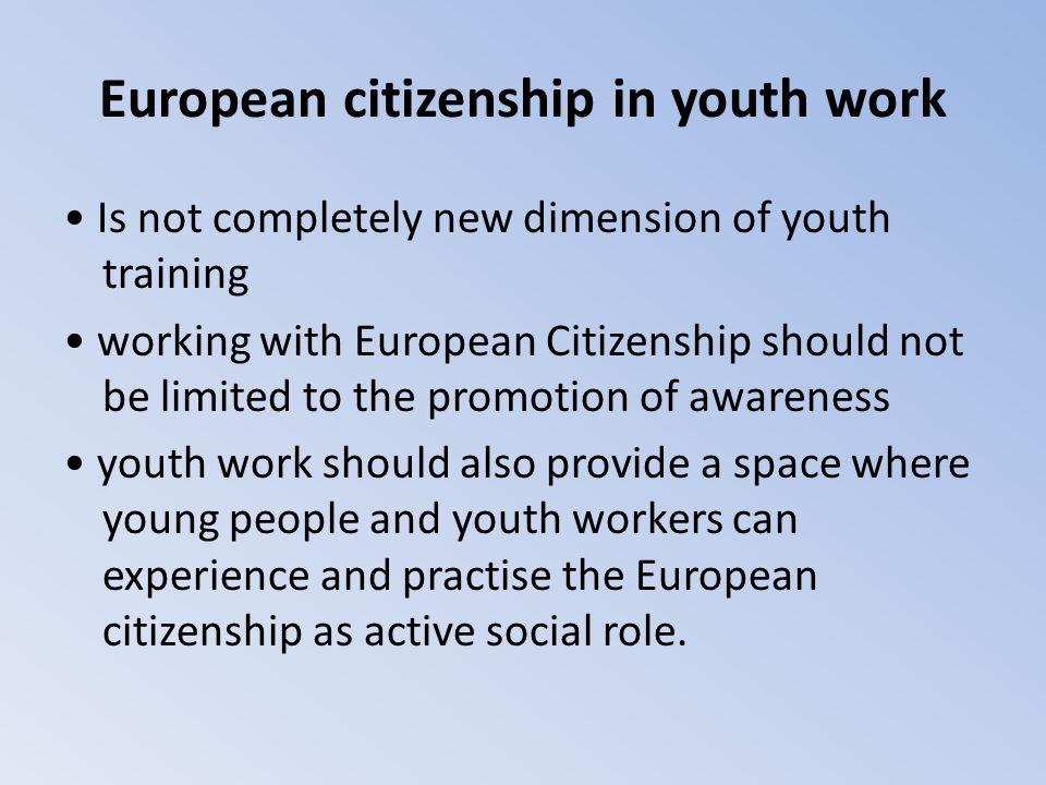 European citizenship in youth work