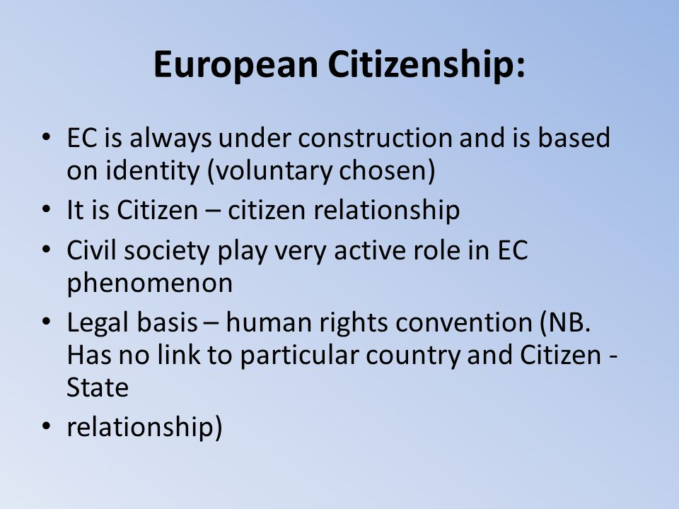 European Citizenship: