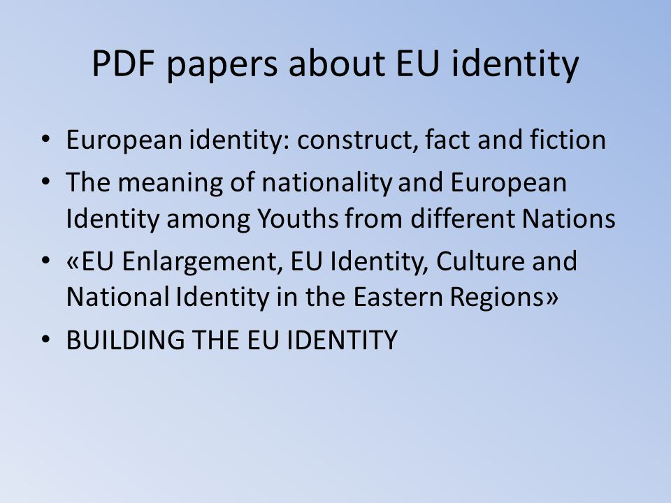 PDF papers about EU identity