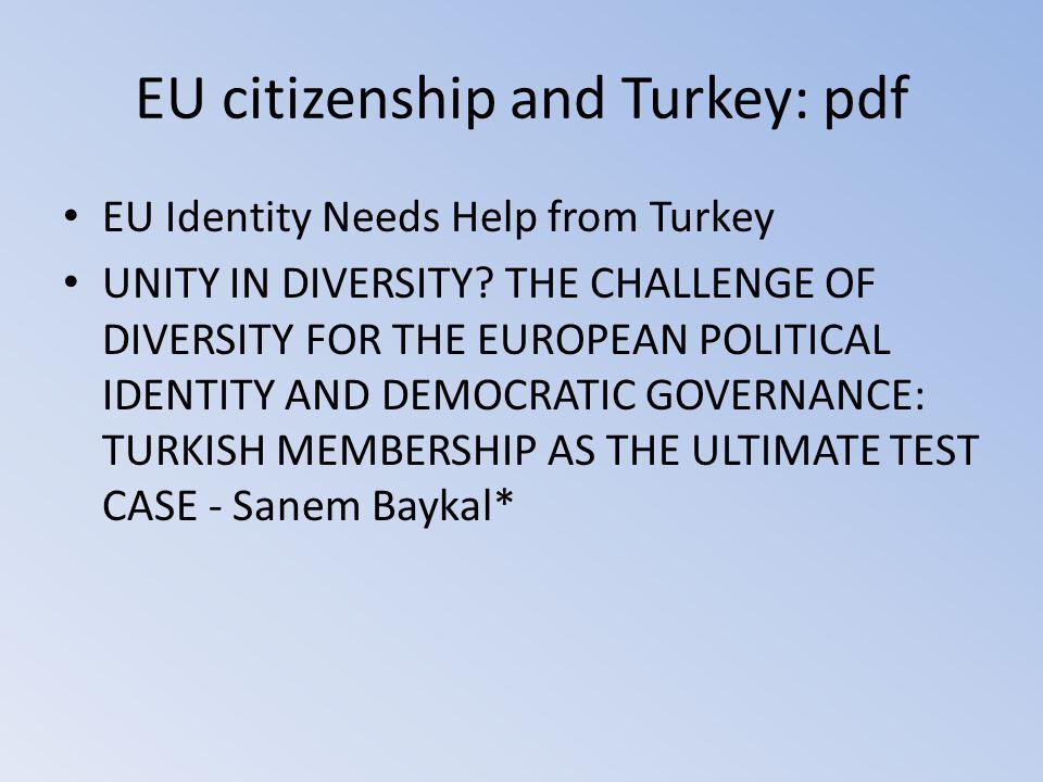 EU citizenship and Turkey: pdf