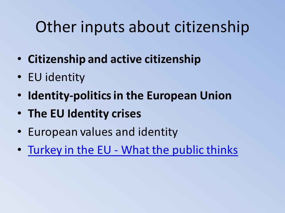 Other inputs about citizenship