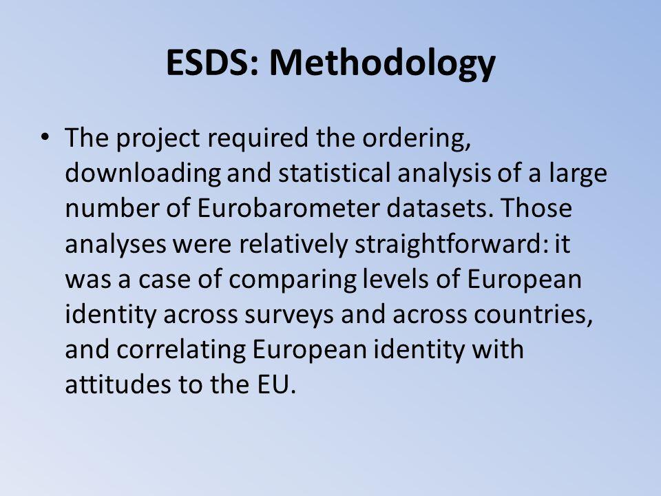 ESDS: Methodology