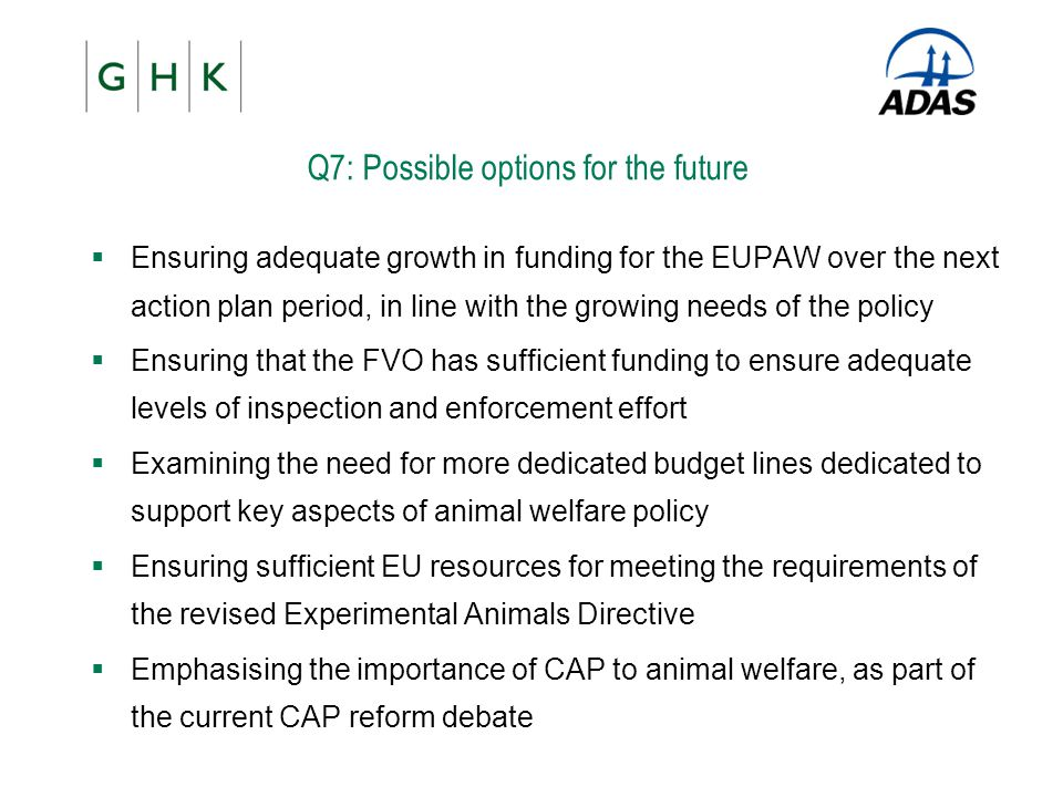 Q7: Possible options for the future
