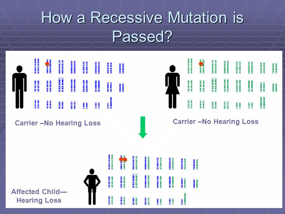 How a Recessive Mutation is Passed