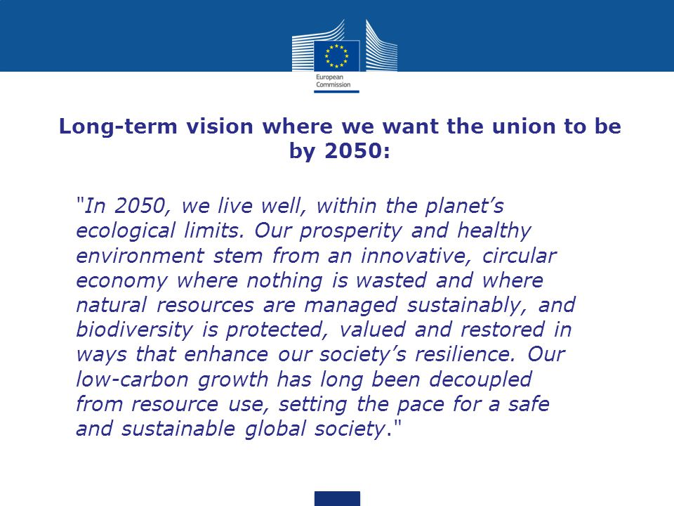 Long-term vision where we want the union to be by 2050: