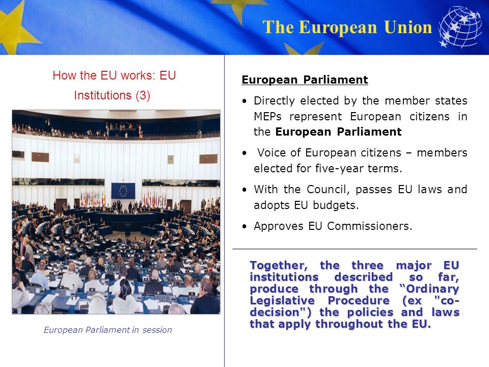 How the EU works: EU Institutions (3)